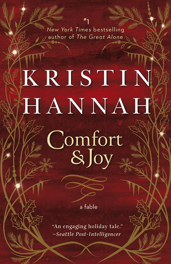 The cover for COMFORT AND JOY BY KRISTIN HANNAH, part of Marie's Christmas Book Flood
