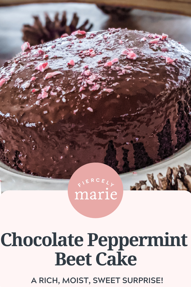 Chocolate Peppermint Beet Cake