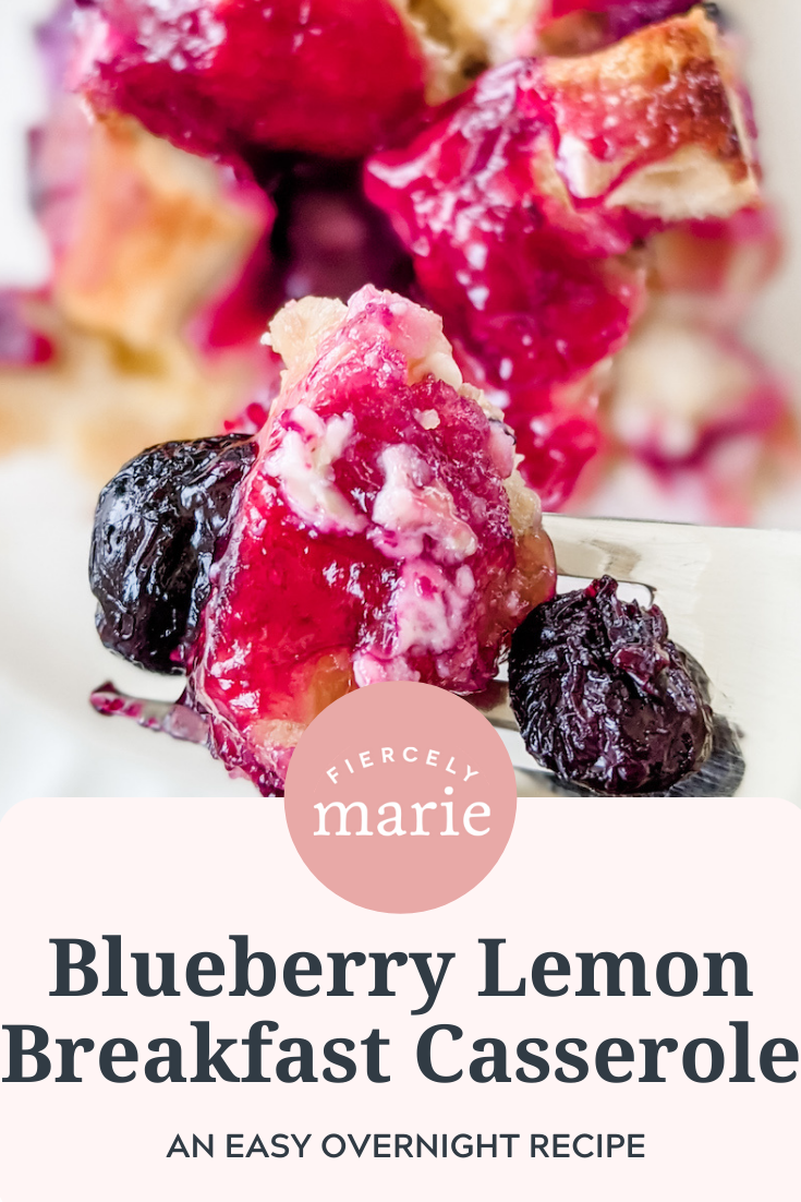 Easy Blueberry Lemon Breakfast Casserole