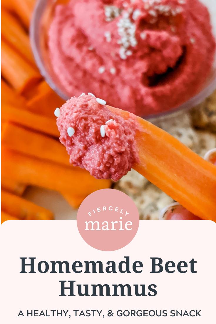 Easy Homemade Beet Hummus