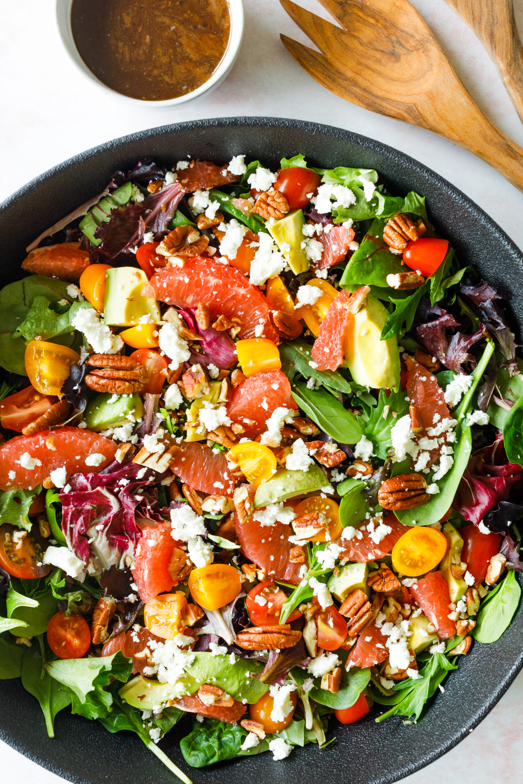 Grapefruit, Pecan, and Goat Cheese Salad