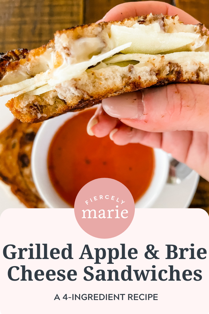 Easy Grilled Apple and Brie Cheese Sandwiches