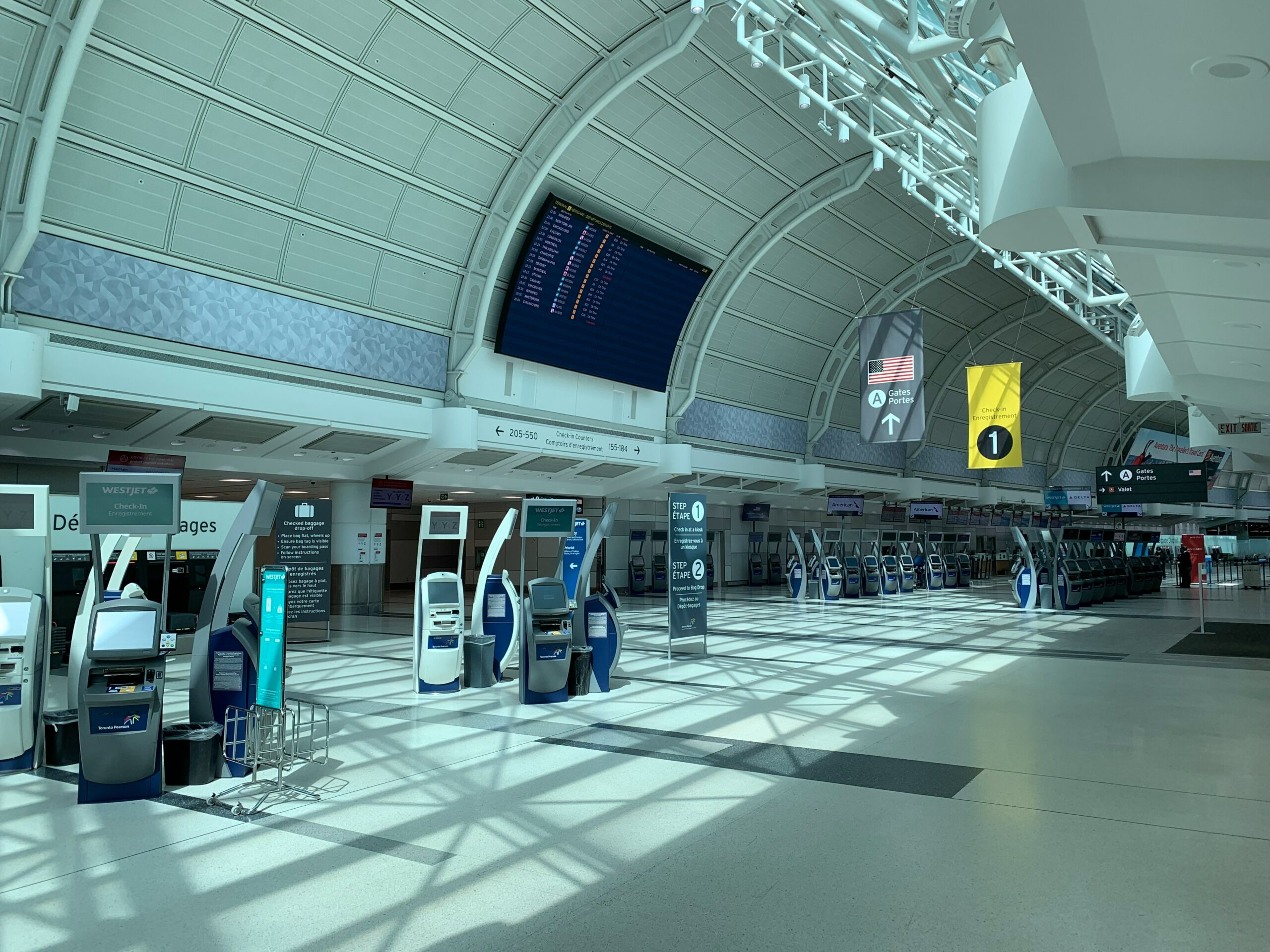 Travel Safety Tips: An empty airport terminal