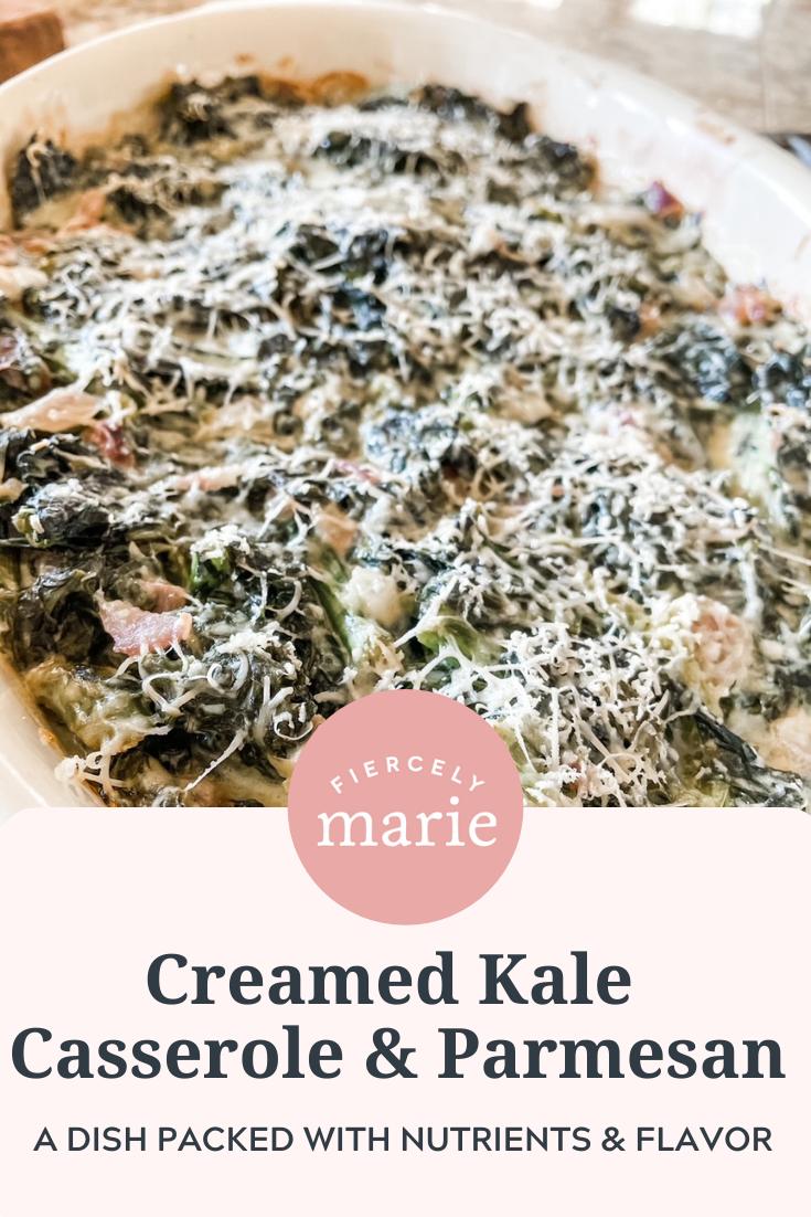 Creamed Kale Casserole with Parmesan