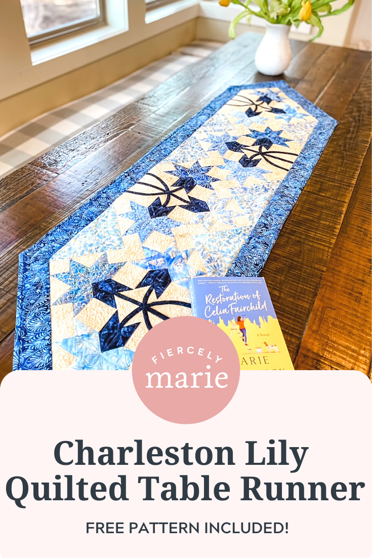 Charleston Lily Quilted Table Runner: Craft of the Month