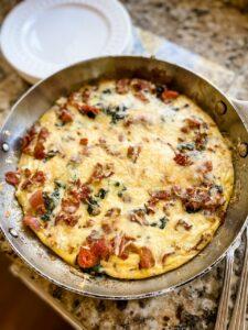 Marie's Easy Weekend Breakfast Skillet, on a countertop.