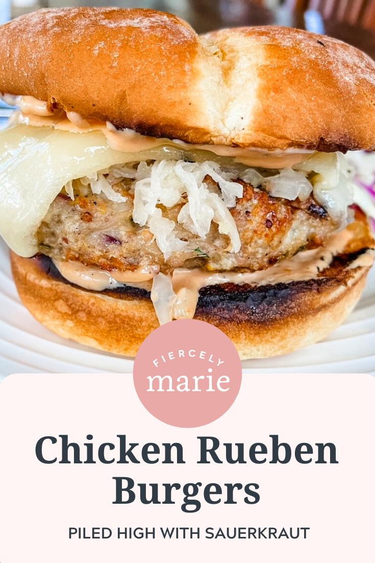 Chicken Rueben Burgers