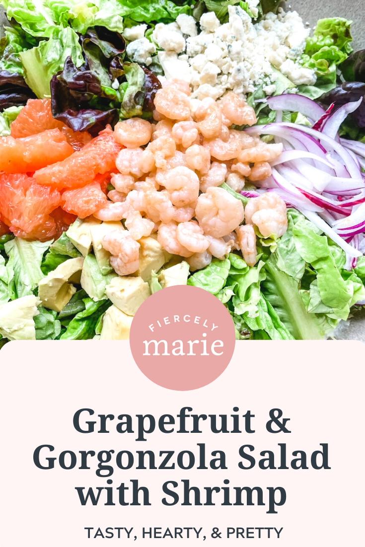 Grapefruit and Gorgonzola Salad with Shrimp