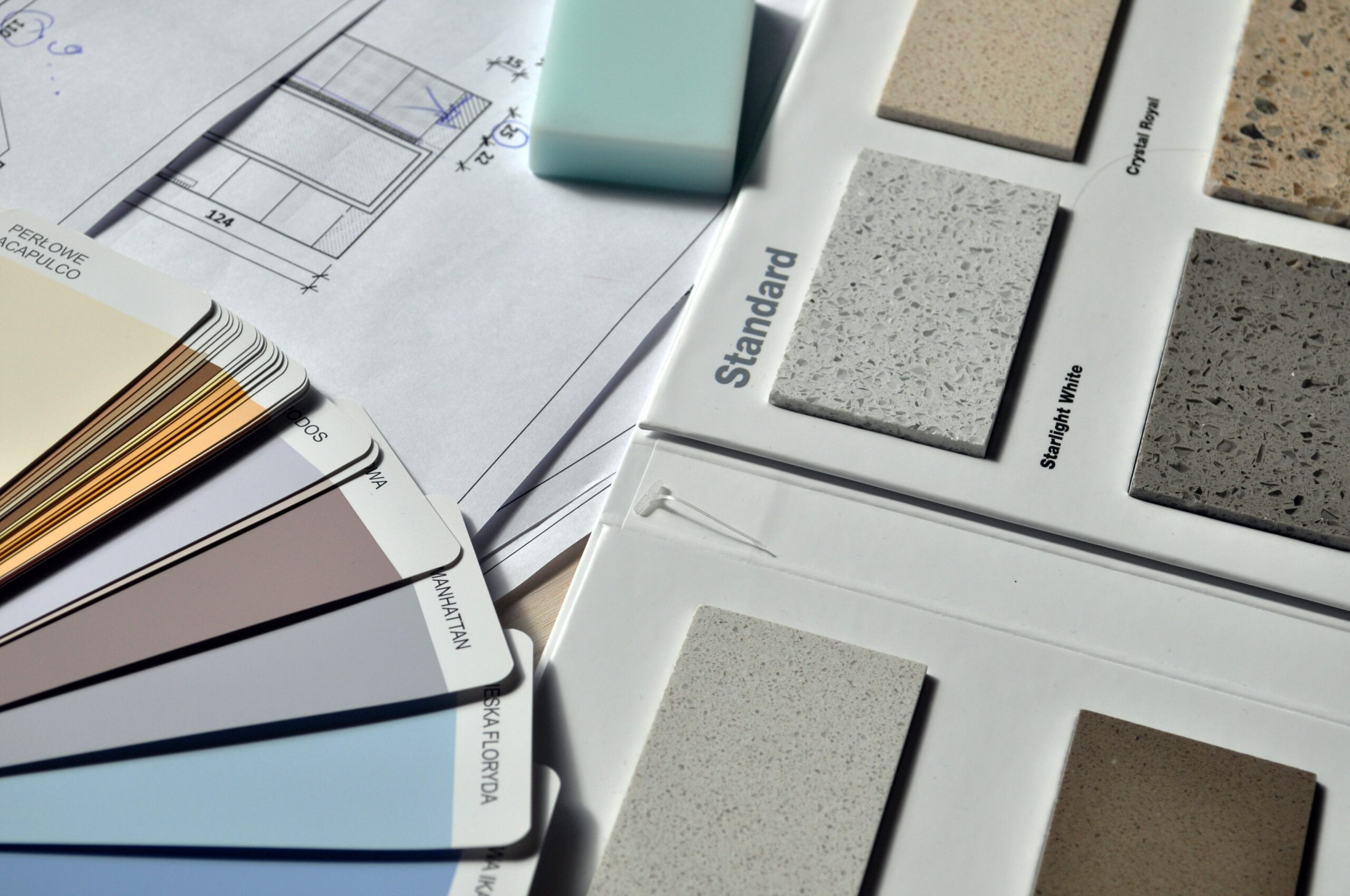 Paint and countertop samples