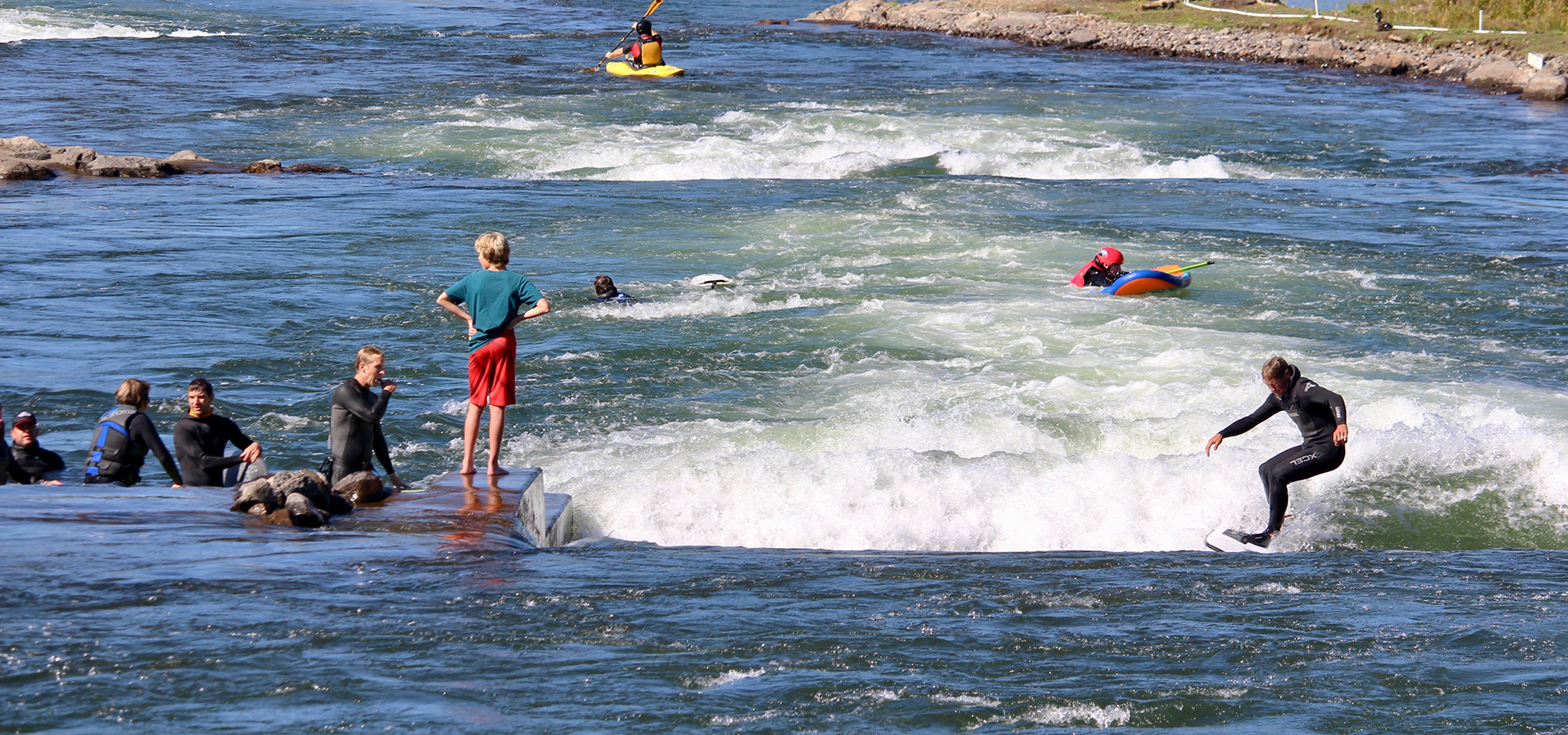 The surfing channel at Whitewater Park