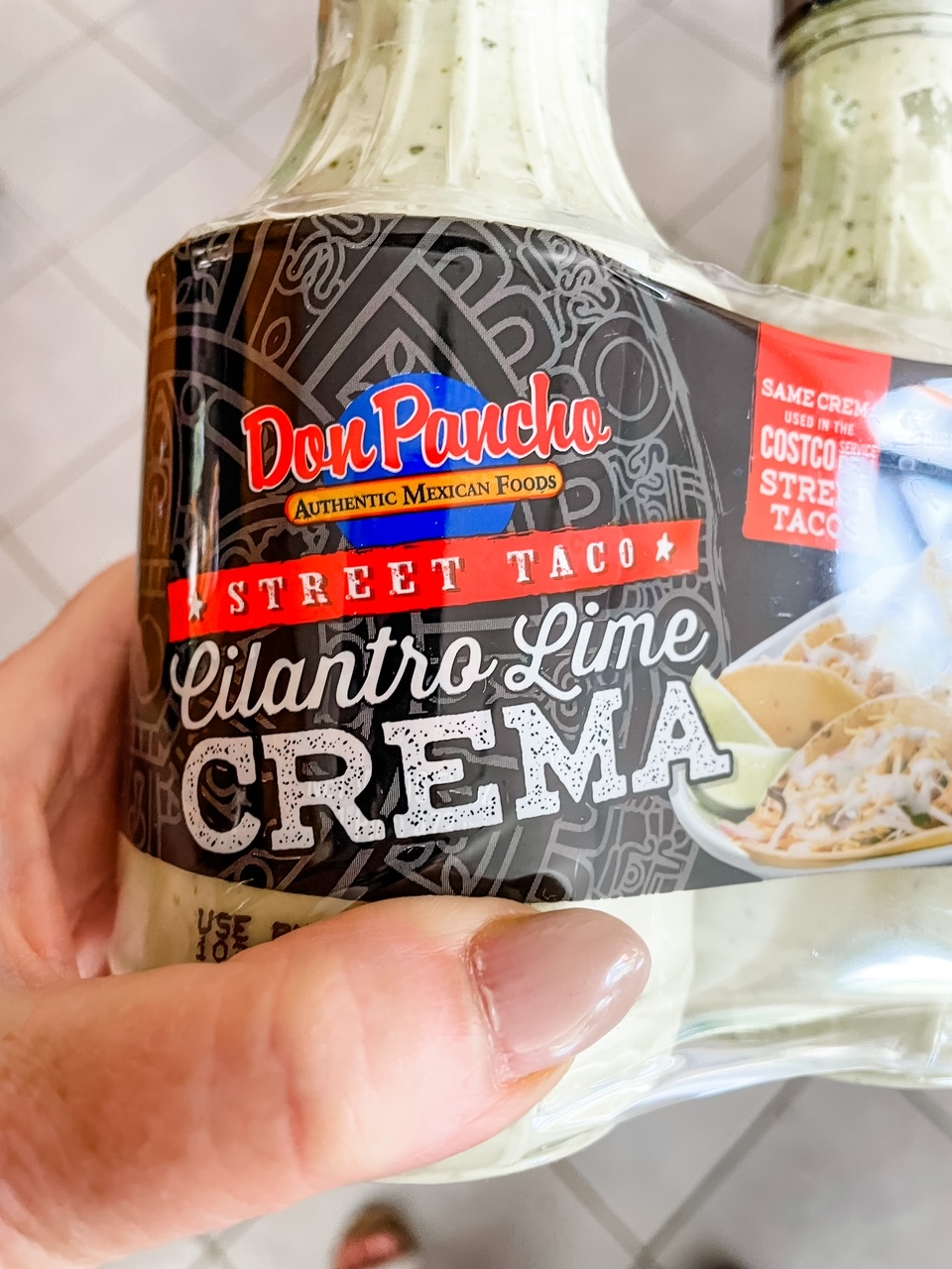 The crema sauce from Costco