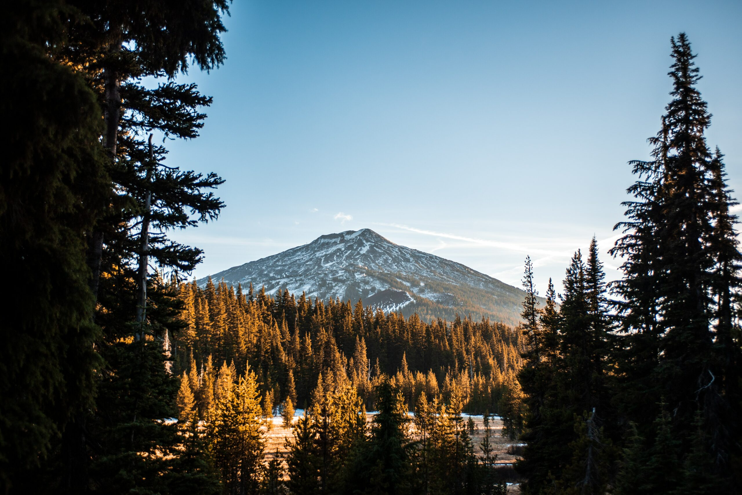 A mountain lit by a sunset - hiking mountains is one of the things to do in Bend, Oregon