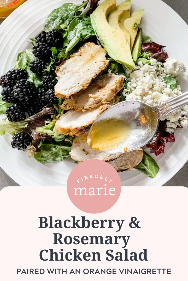 Blackberry and Grilled Rosemary Chicken Salad with Orange Vinaigrette