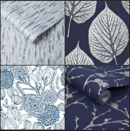 The four options of wallpaper, positioned in a group of four squares