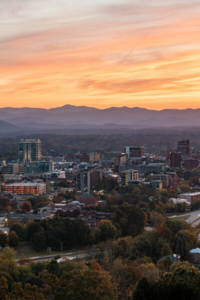 A view of downtown Asheville in the evening - Asheville, NC in a Day