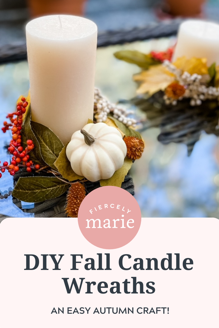 DIY Fall Candle Wreaths: A Craft for Fall, Autumn, or Thanksgiving