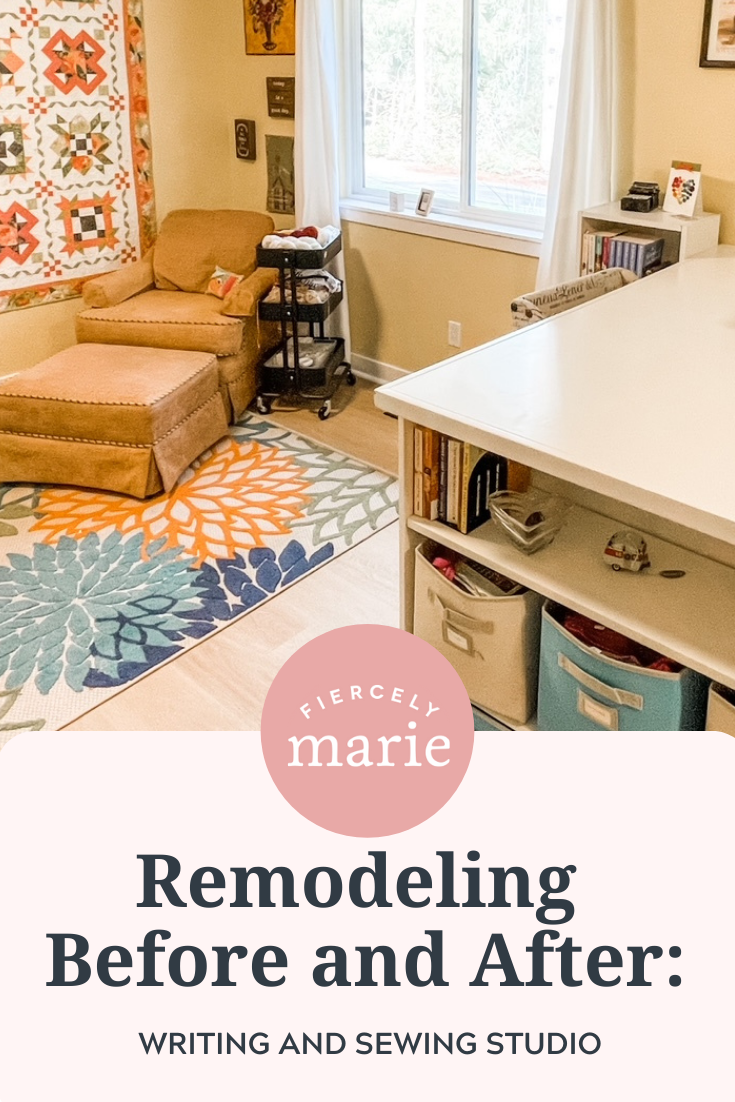 Remodeling Before and After: Writing and Sewing Studio