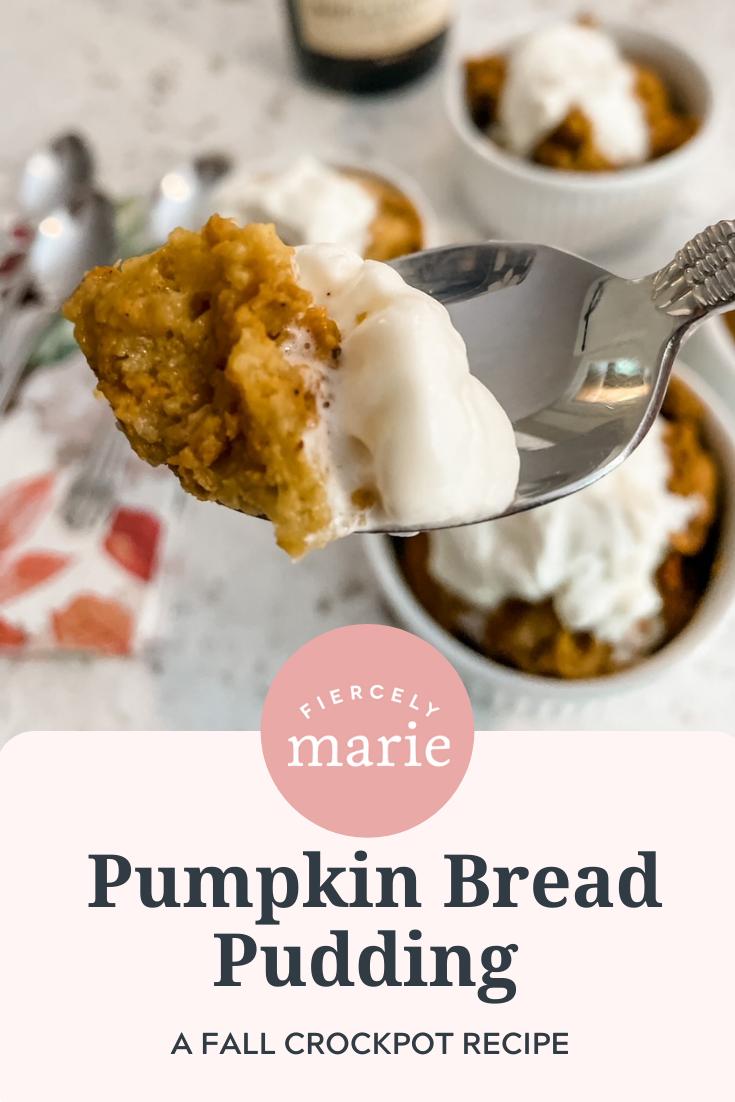 Slow Cooker Pumpkin Bread Pudding