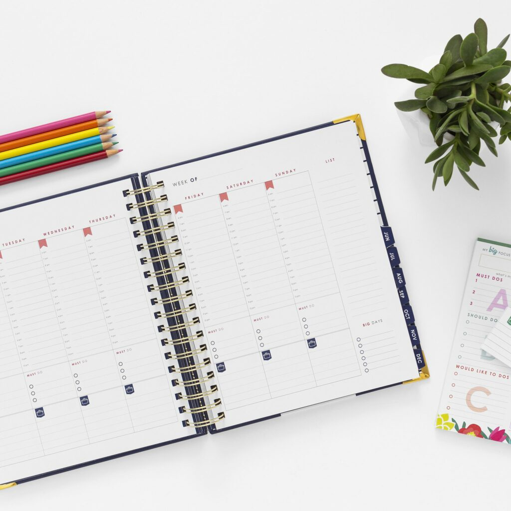 The LivingWell Planner open to a Goals page