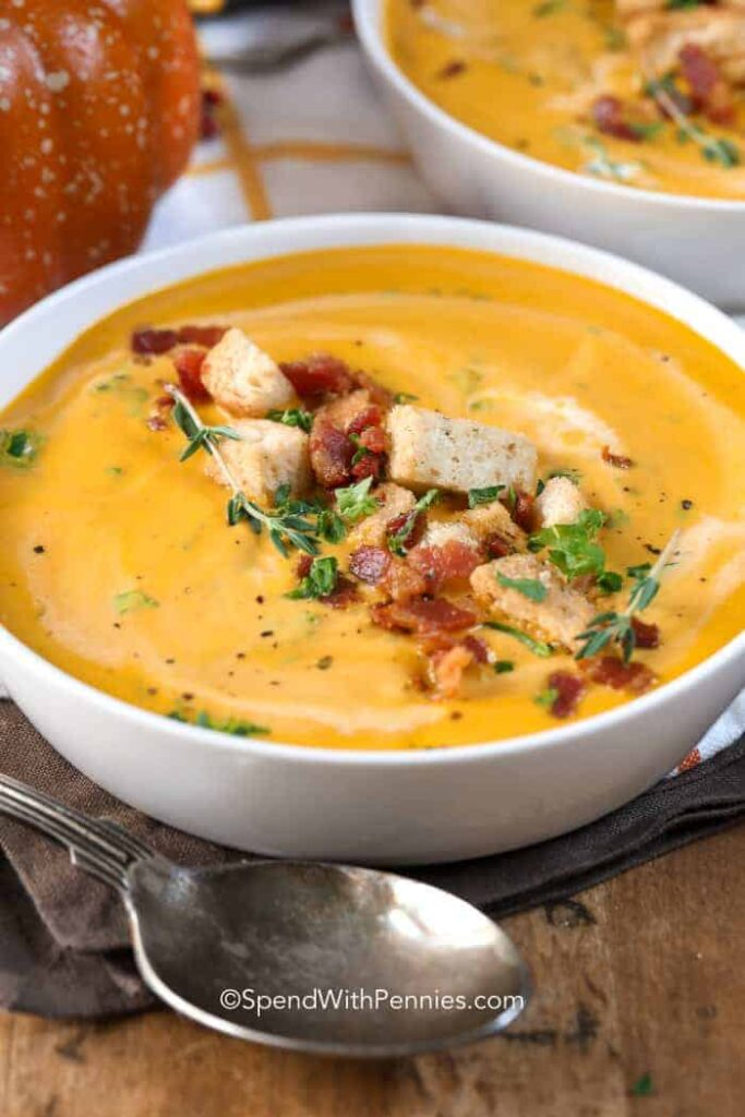 SpendWithPennies' Pumpkin Soup - one or the pumpkin round up recipes