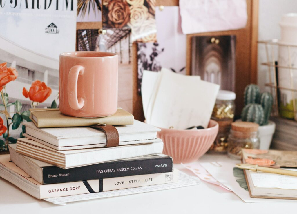 A clean, organized desk, one of the 28 Rainy Day Activities for Adults