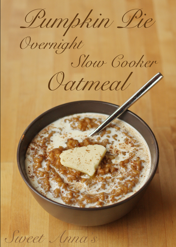 A bowl of Sweet Anna's Pumpkin Oatmeal with a spoon digging in